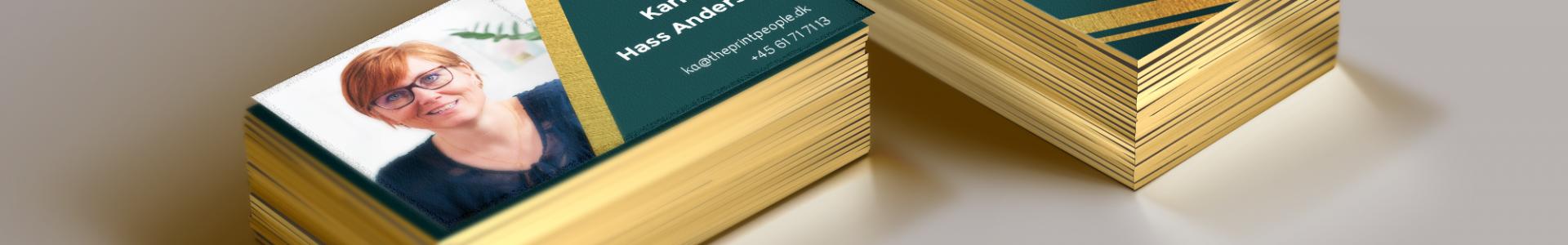 Visitkort med guld og effekter